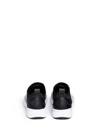 Back View - Click To Enlarge - Reebok - 'FuryLite' waffle knit neoprene slip-on sneakers