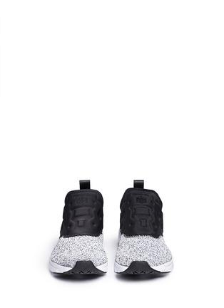 Front View - Click To Enlarge - Reebok - 'FuryLite' waffle knit neoprene slip-on sneakers