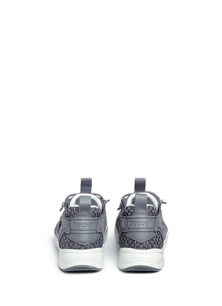 Back View - Click To Enlarge - Reebok - 'FuryLite New' basketweave sneakers