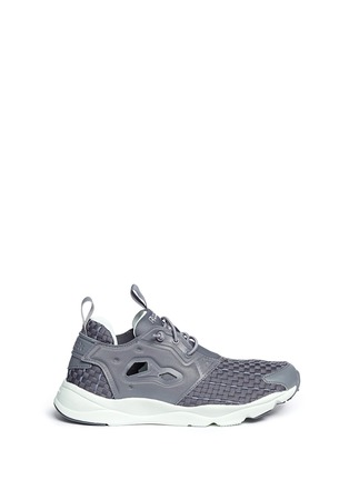 Main View - Click To Enlarge - Reebok - 'FuryLite New' basketweave sneakers