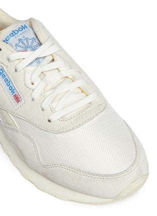 Detail View - Click To Enlarge - Reebok - 'CL Nylon Vintage' suede trim sneakers