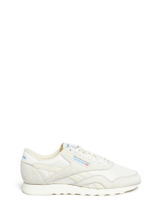 Main View - Click To Enlarge - Reebok - 'CL Nylon Vintage' suede trim sneakers