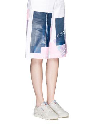 Figure View - Click To Enlarge - Reebok - 'CL Nylon Vintage' suede trim sneakers