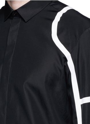 Detail View - Click To Enlarge - Neil Barrett - Biker stripe cotton poplin shirt