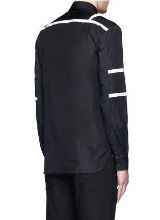 Back View - Click To Enlarge - Neil Barrett - Biker stripe cotton poplin shirt