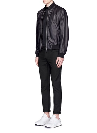 Figure View - Click To Enlarge - Neil Barrett - Biker stripe cotton poplin shirt