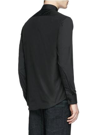 Back View - Click To Enlarge - Neil Barrett - Thunderbolt stud collar poplin shirt