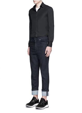 Figure View - Click To Enlarge - Neil Barrett - Thunderbolt stud collar poplin shirt