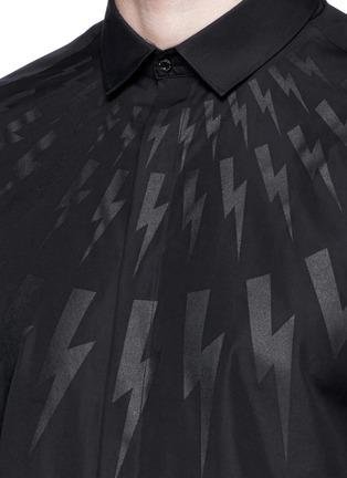 Detail View - Click To Enlarge - NEIL BARRETT - Thunderbolt print poplin shirt