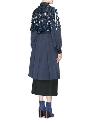 Back View - Click To Enlarge - Dries Van Noten - 'Rome' beaded paillette washed cotton coat
