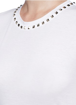 Detail View - Click To Enlarge - Valentino - 'Rockstud Untitled 09' jersey T-shirt