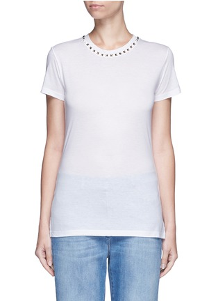 Main View - Click To Enlarge - Valentino - 'Rockstud Untitled 09' jersey T-shirt