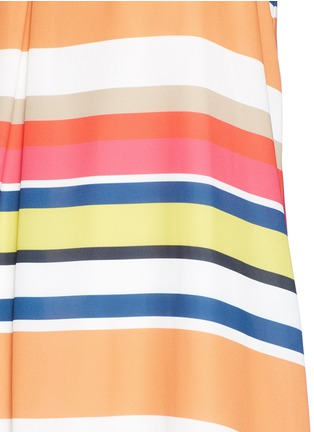 Detail View - Click To Enlarge - alice + olivia - 'Cortes' carnival stripe print crepe dress