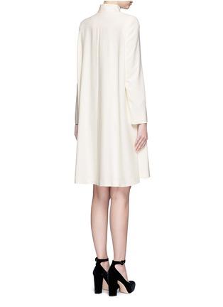 Back View - Click To Enlarge - Alexander McQueen - Cape crepe coat