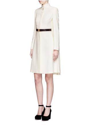 Figure View - Click To Enlarge - Alexander McQueen - Cape crepe coat