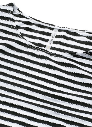 Detail View - Click To Enlarge - Vitamin A - 'Cannes' stripe long sleeve rashguard