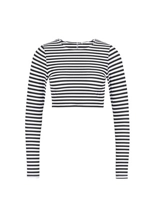 Main View - Click To Enlarge - Vitamin A - 'Cannes' stripe long sleeve rashguard