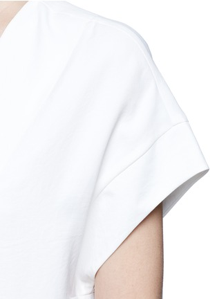 Detail View - Click To Enlarge - Vince - Cap sleeve popover dress