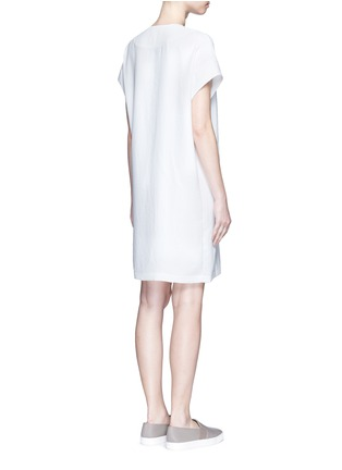 Back View - Click To Enlarge - Vince - Cap sleeve popover dress