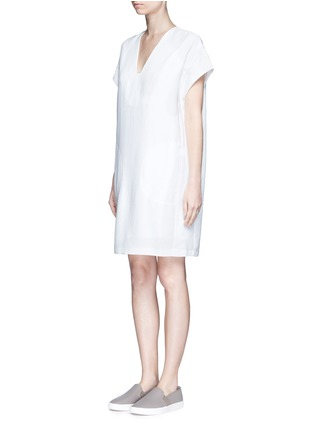 Front View - Click To Enlarge - Vince - Cap sleeve popover dress