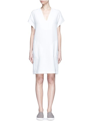 Main View - Click To Enlarge - Vince - Cap sleeve popover dress