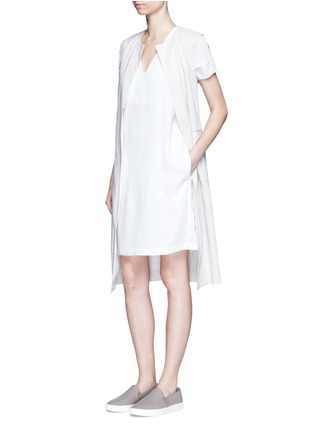 Figure View - Click To Enlarge - Vince - Cap sleeve popover dress