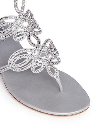 Detail View - Click To Enlarge - RENÉ CAOVILLA - Strass pavé cutout satin sandals