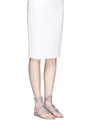Figure View - Click To Enlarge - RENÉ CAOVILLA - Strass pavé cutout satin sandals
