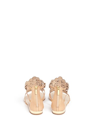 Back View - Click To Enlarge - René Caovilla - Strass faux pearl embellished leather thong sandals