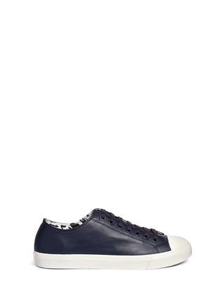 Main View - Click To Enlarge - Paul Smith - 'Indie' stripe heel leather sneakers