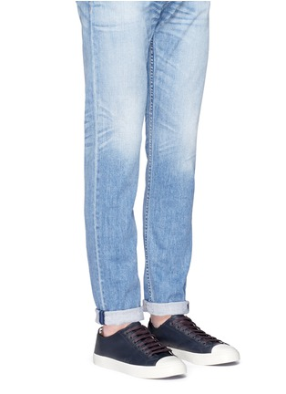 Figure View - Click To Enlarge - Paul Smith - 'Indie' stripe heel leather sneakers