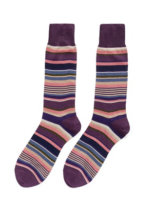 Main View - Click To Enlarge - Paul Smith - 'Mill Stripe' socks