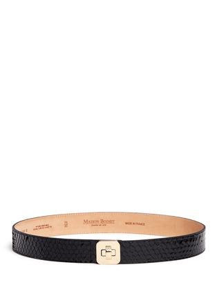 Main View - Click To Enlarge - MAISON BOINET - Python leather belt