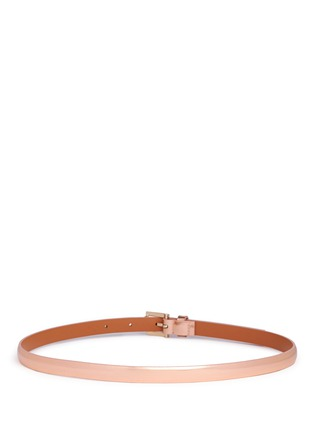 Back View - Click To Enlarge - MAISON BOINET - Metallic mirror leather belt