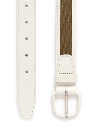 Detail View - Click To Enlarge - MAISON BOINET - Canvas trim leather belt