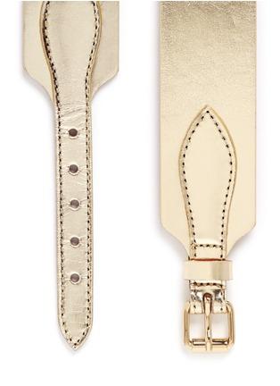 Detail View - Click To Enlarge - Maison Boinet - Metallic mirror leather corset belt