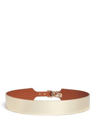 Back View - Click To Enlarge - Maison Boinet - Metallic mirror leather corset belt