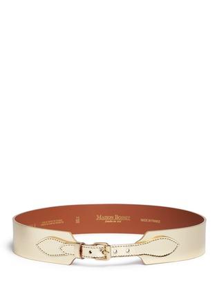 Main View - Click To Enlarge - Maison Boinet - Metallic mirror leather corset belt