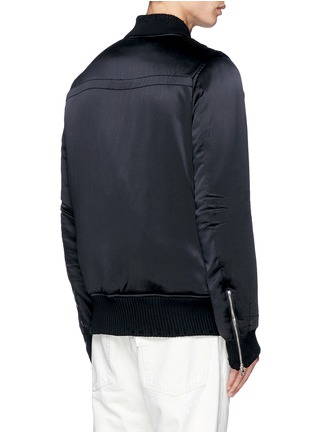 Back View - Click To Enlarge - Amiri - Distressed trim charmeuse bomber jacket
