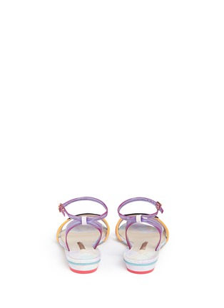 Back View - Click To Enlarge - Sophia Webster - 'Ellen Beach Babe' slogan patch leather sandals