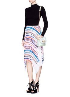 Sophia Webster Claudie' flamingo charm leather flap bag