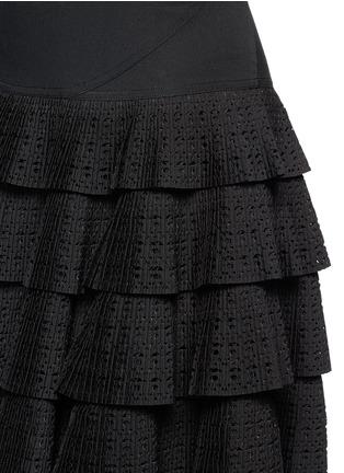 Detail View - Click To Enlarge - AZZEDINE ALAÏA - 'Vienne' geometric perforated plissé pleat skirt