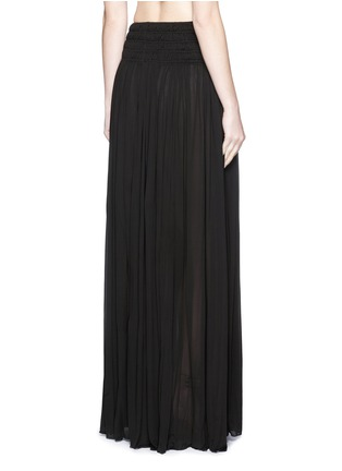 Back View - Click To Enlarge - Alaïa - Shirred ruche maxi skirt