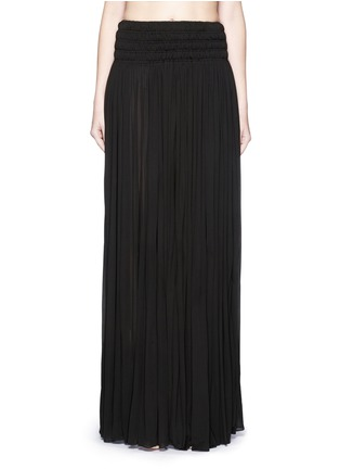 Main View - Click To Enlarge - Alaïa - Shirred ruche maxi skirt