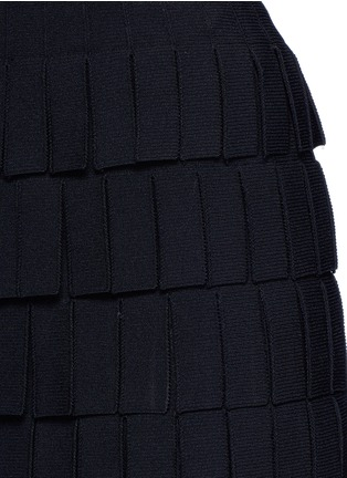 Detail View - Click To Enlarge - Alaïa - 'Perse' Grecian fringe knit skirt