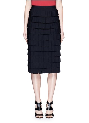 Main View - Click To Enlarge - Alaïa - 'Perse' Grecian fringe knit skirt