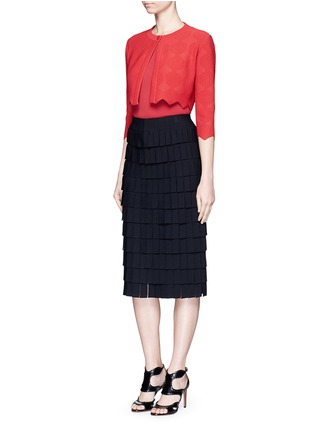 Figure View - Click To Enlarge - Alaïa - 'Perse' Grecian fringe knit skirt