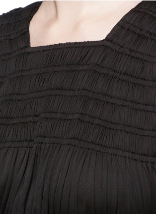 Detail View - Click To Enlarge - Alaïa - Shirred ruche strappy cropped top
