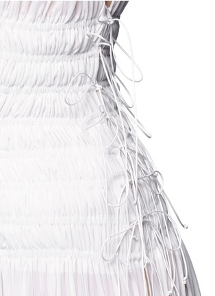 Detail View - Click To Enlarge - Alaïa - Ruched deep split jersey Grecian gown