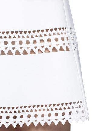 Detail View - Click To Enlarge - Alaïa - 'Vienne' geometric cutout knit dress
